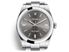 Buy original Rolex Oyster Perpetual 39 114300 rhodium with Bitcoin!