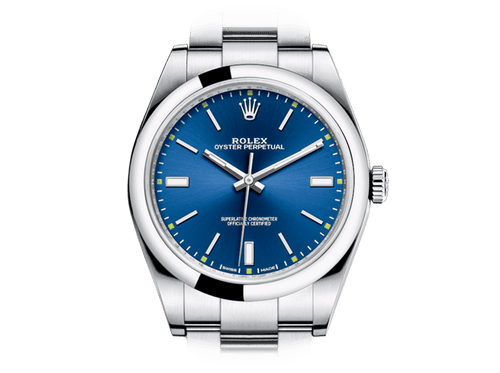 Buy original Rolex OYSTER PERPETUAL 39 m114300-0003 with Bitcoins!