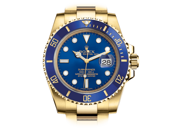 Buy original Rolex Submariner 116618LB with Bitcoin!