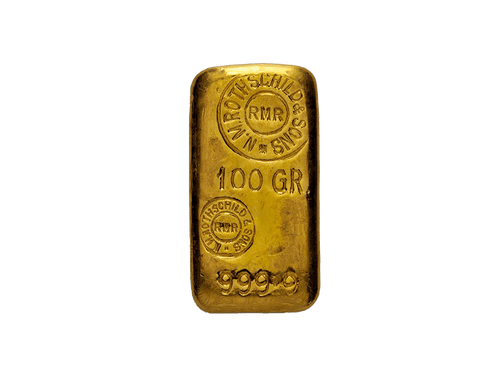 BitDials | Buy original Rothschild Gold Bar (casted) 100g with Bitcoins!