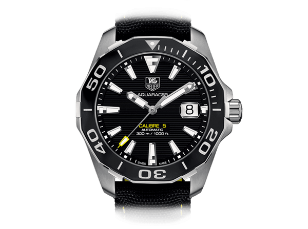 Buy original Tag Heuer Aquaracer Calibre 5 Automatic with Bitcoins!