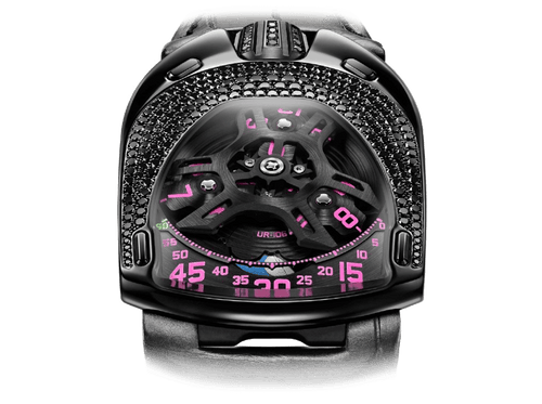 Buy original Urwerk UR-106 Black Pink with Bitcoins!