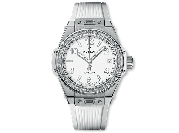 Buy original Hublot BIG BANG ONE CLICK STEEL WHITE DIAMONDS with Bitcoins!
