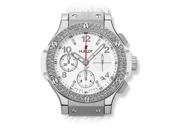 Buy original Hublot BIG BANG STEEL WHITE DIAMONDS with Bitcoins!