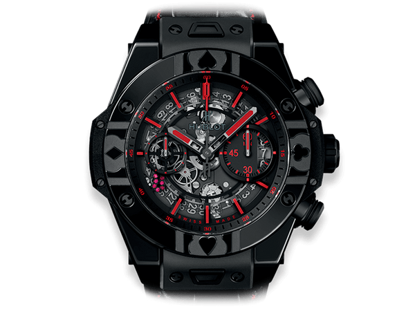 Buy original Hublot BIG BANG UNICO WORLD POKER TOUR ALL BLACK 411.CX.1113.LR.WPT17 with Bitcoins!