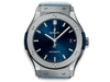 Buy original Hublot CLASSIC FUSION BLUE TITANIUM 511.NX.7170.LR with Bitcoins!