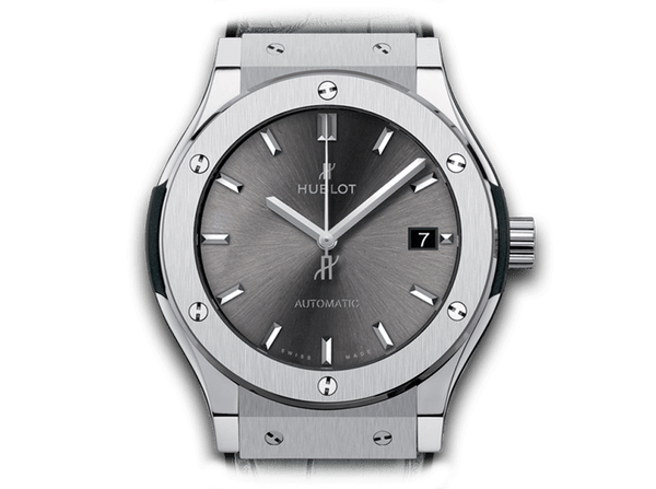 Buy original Hublot CLASSIC FUSION RACING GREY TITANIUM 511.NX.7071.LR with Bitcoins!