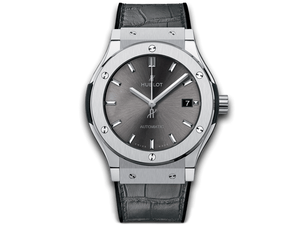 Buy original Hublot CLASSIC FUSION RACING GREY TITANIUM 565.NX.7071.LR with Bitcoins!