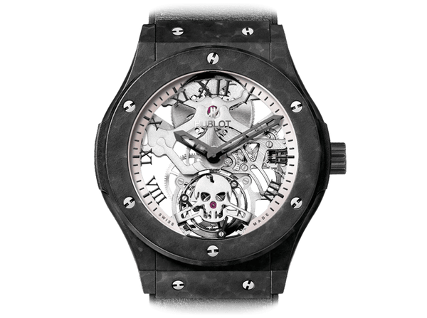 Buy original Hublot CLASSIC FUSION Tourbillon Skull 505.UC.0170.VR.SKULL with Bitcoins!
