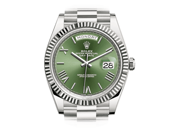 Buy original Rolex DAY-DATE 40 228239-0033 with Bitcoins!