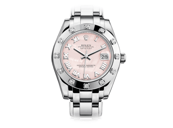 Buy original Rolex PEARLMASTER 34 81319 with Bitcoins!