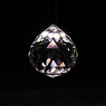 Hanging sparkly crystal
