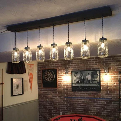7 Light Mason Jar Chandelier - Vintage Electric Supply