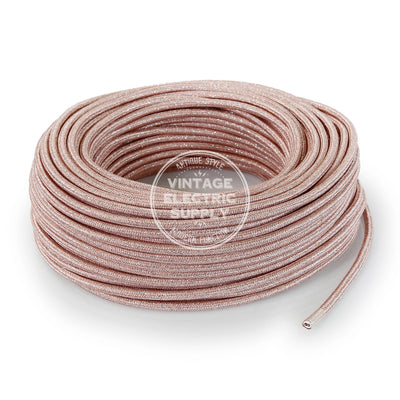 Pink Glitter Electric Cable  - Vintage Electric Supply