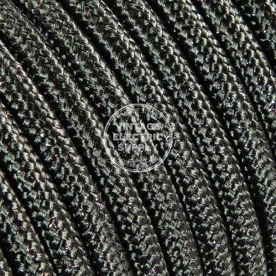 Steel Glitter Electric Cable  - Vintage Electric Supply