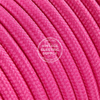 Pink Rayon Electric Cable  - Vintage Electric Supply