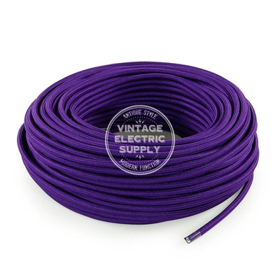 Purple Rayon Electric Cable  - Vintage Electric Supply
