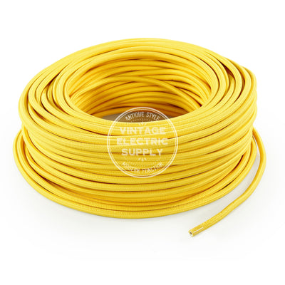 Yellow Rayon Electric Cable  - Vintage Electric Supply