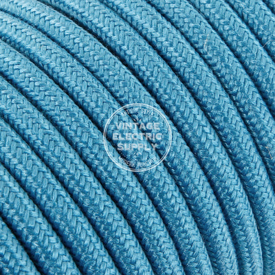 Turquoise Raw Yarn Electric Cable - Vintage Electric Supply