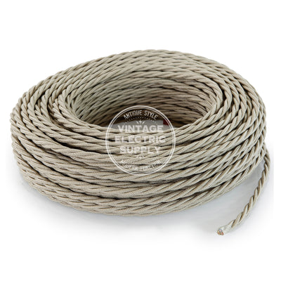 Sand Raw Yarn Electric Cable  - Vintage Electric Supply