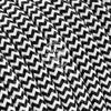 Black and White Zigzag Rayon Electric Cable  - Vintage Electric Supply