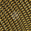 Black & Gold Zigzag Rayon Electric Cable  - Vintage Electric Supply