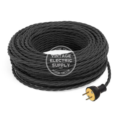 Black Raw Yarn Twisted Re-Wire Kit - Vintage Electric Supply