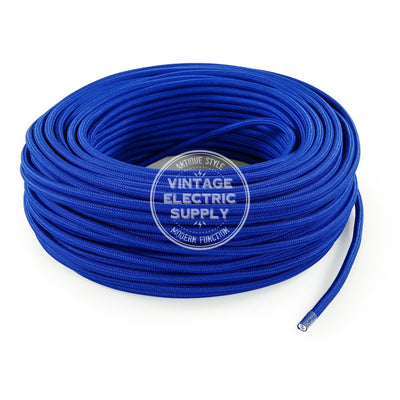 Blue Rayon Electric Cable  - Vintage Electric Supply