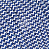 Blue & White Zigzag Rayon Electric Cable  - Vintage Electric Supply