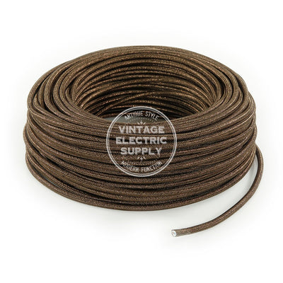 Brown Glitter Electric Cable - Vintage Electric Supply