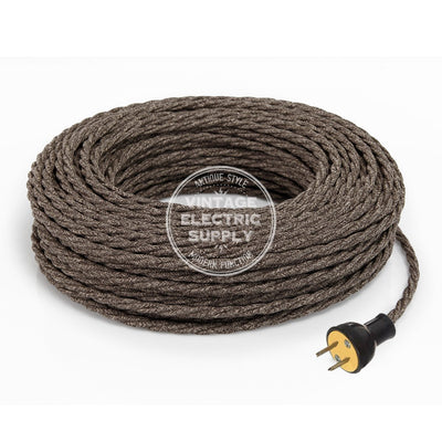 Brown Linen Twisted Re-Wire Kit - Vintage Electric Supply