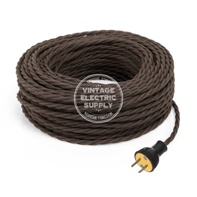 Brown Raw Yarn Twisted Re-Wire Kit - Vintage Electric Supply