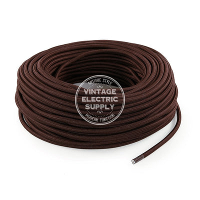 Brown Rayon Electric Cable  - Vintage Electric Supply
