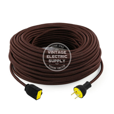 Brown Rayon Extension Cord - Vintage Electric Supply