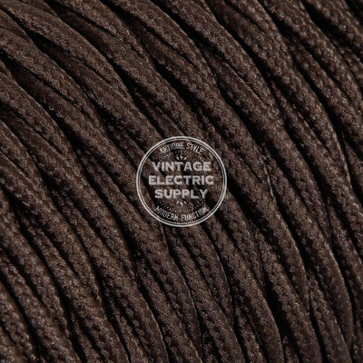 Brown Rayon Twisted Electric Cable  - Vintage Electric Supply