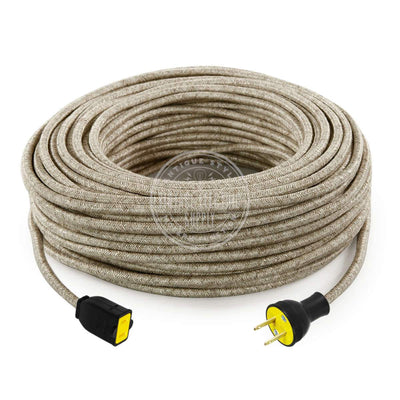 Canvas Linen Extension Cord - Vintage Electric Supply
