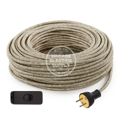 Canvas Linen Re-Wire Kit with Switch - Vintage Electric Supply