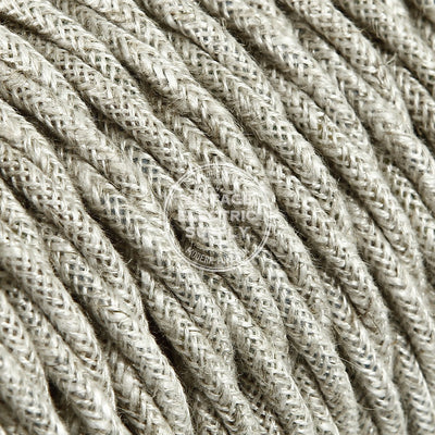 Canvas Linen Twisted Electric Cable  - Vintage Electric Supply