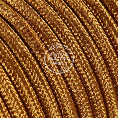 Cognac Rayon Electric Cable  - Vintage Electric Supply