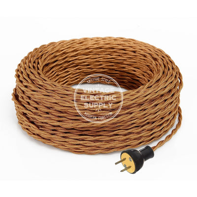 Cognac Rayon Twisted Re-Wire Kit - Vintage Electric Supply