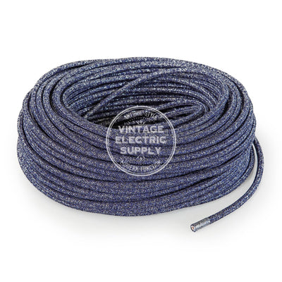 Denim Glitter  Electric Cable - Vintage Electric Supply
