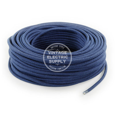 Denim Raw Yarn Electric Cable  - Vintage Electric Supply