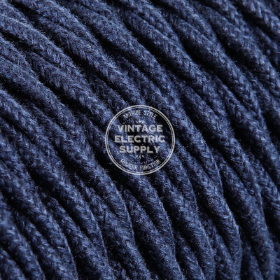 Denim Raw Yarn Twisted Electric Cable  - Vintage Electric Supply