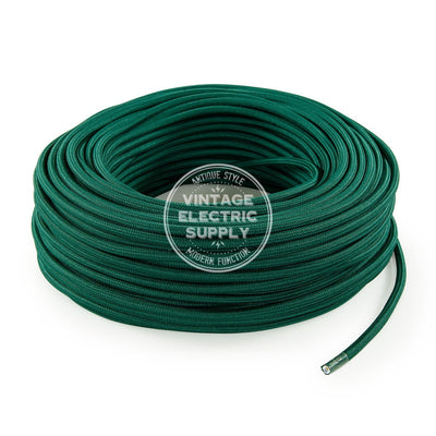 Emerald Rayon Electric Cable  - Vintage Electric Supply