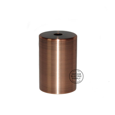 Flat Top Metal Socket Cover Kit - Aged Copper - Vintage Electric Supply