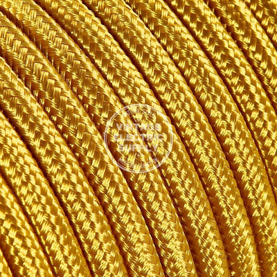 Gold Rayon Electric Cable  - Vintage Electric Supply