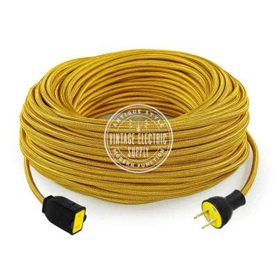 Gold Rayon Extension Cord - Vintage Electric Supply