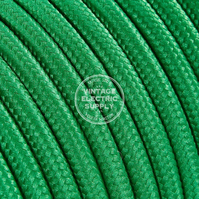 Green Rayon Electric Cable  - Vintage Electric Supply