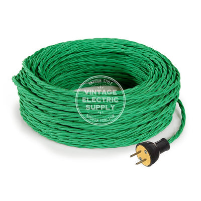 Green Rayon Twisted Re-Wire Kit - Vintage Electric Supply