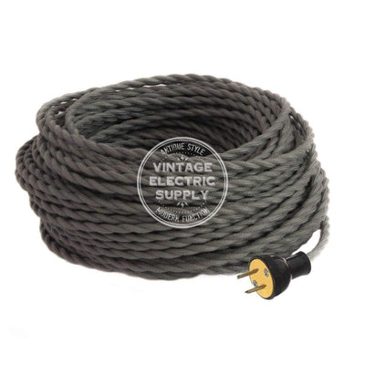 Grey Cotton Twisted Re-Wire Kit - Vintage Electric Supply